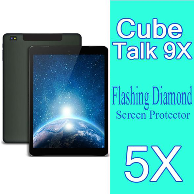 Diamond Flashing Protective Film For Cube Talk 9X U65GT Tablet PC Screen Protector For Cube U65GT Talk 9X Diamond Screen Film(China (Mainland))