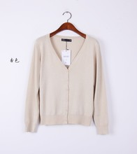 High quality  Eleven Color CARDIGAN 2015 NEW BRAND Knitted Sweater Women Large size Loose long sleeves Cardigan Sweater woman(China (Mainland))