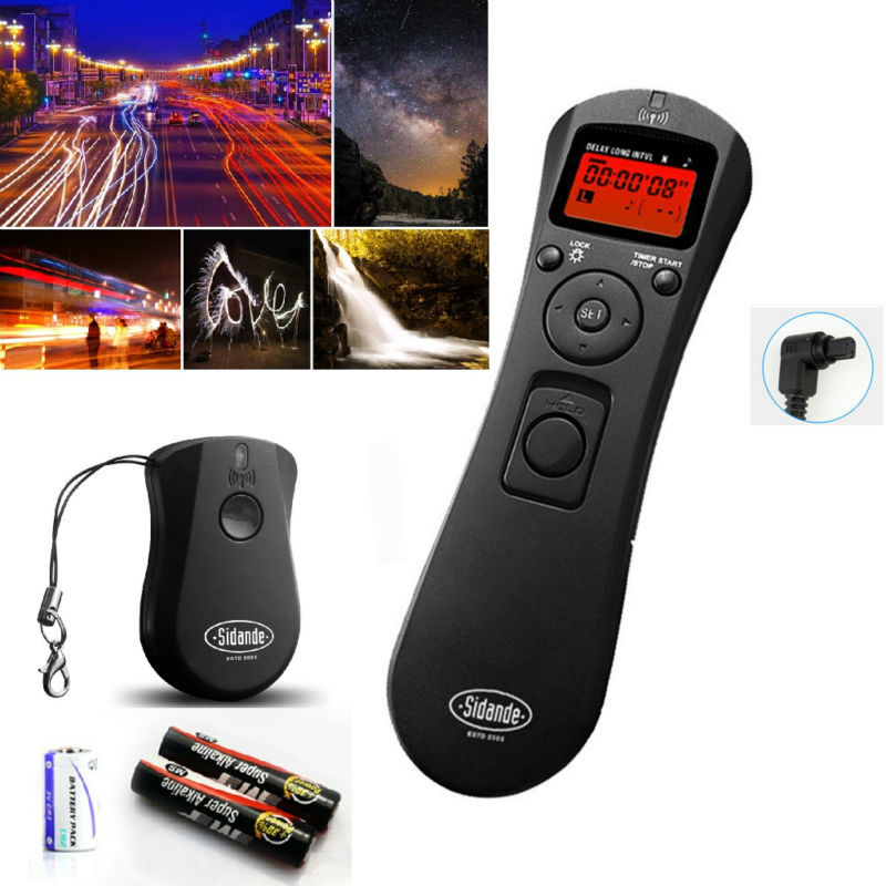 LCD Time Lapse intervalometer Wireless Timer Remote Control Shutter Release as TC-80N3 for Canon 7D 1D 5D Mark II III 6D 50D 40D(China (Mainland))