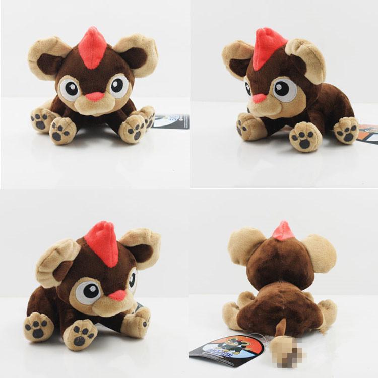 Free Shipping 6pcs/lot  17cm Pokemon Plush Toys XY Series Small Fire Lion Birthday Gifts One Piece<br><br>Aliexpress