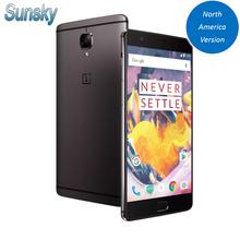 Original OnePlus 3T A3000 5.5 inch 1920*1080p 16.0MP Smartphone Snapdragon 821 6GB RAM 64GB ROM CDMA Touch ID NFC Mobile Phone(China (Mainland))