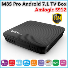 Buy 2017 NEW M8S Pro Android TV Box Amlogic S912 Android 7.1 Smart tv box 64 bit Octa Core ARM Cortex-A53 2GB DDR4 16GB EMMC for $62.99 in AliExpress store