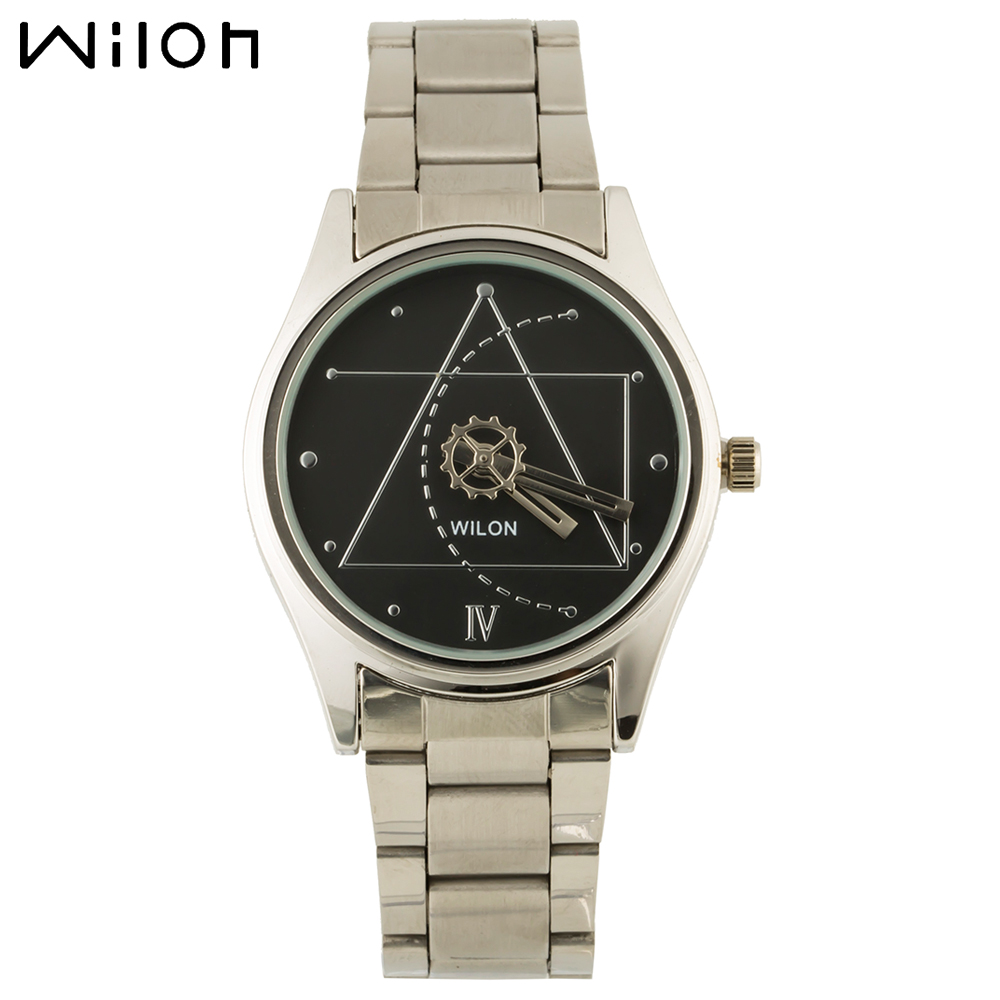 WILON Women's business casual watches quartz official authentic brand watches stainless steel classic second hand black watch(China (Mainland))