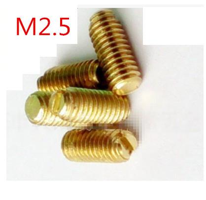 1000pcs/lot M2.5*(3/4/5/6/8) Brass Slot set screws with flat end<br><br>Aliexpress