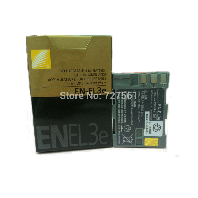 Original EN EL3e Li ion Camera Batteries EN EL3e ENEL3e Battery Pack for Nikon D300S D300