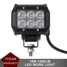 18W LED WORK LIGHT BAR Offroad 12V 24V Auto Car Motorcycle Bicycle SUV ATV UTE 4WD 4X4 Truck AWD Spot Flood Driving Fog Lamp DRL(China (Mainland))