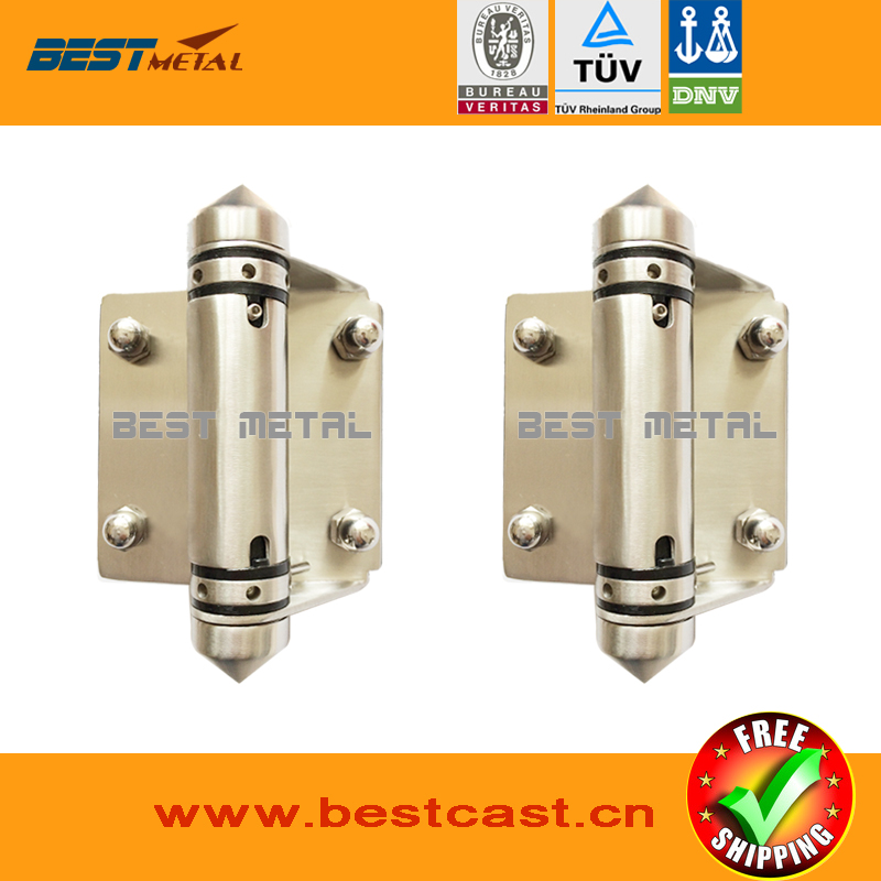 2 Pieces/Lot Mirror polish 316 Stainless steel Self Closing Hinges of glass to glass for glass swimming pool fencing(China (Mainland))