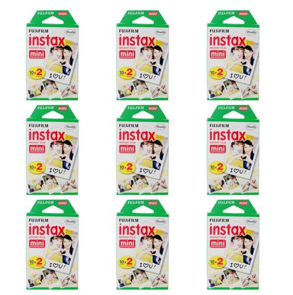Genuine 9 Packs Fuji Instax Film Fujifilm For Mini 8 /50s 7 Mini 90 25 Polaroid 300 Share SP-1 Instant Cameras 180 White Sheets<br><br>Aliexpress
