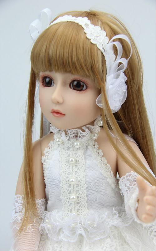 Bella sd/bjd bambola top in bianco vestito dalla principessa qualità bambola fatta a mano(China (Mainland))