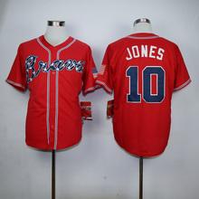 Mens 3 Dale Murphy 10 Chipper Jones 24 Deion Sanders 29 John Smoltz throwback Jerseys color white red black blue gray(China (Mainland))