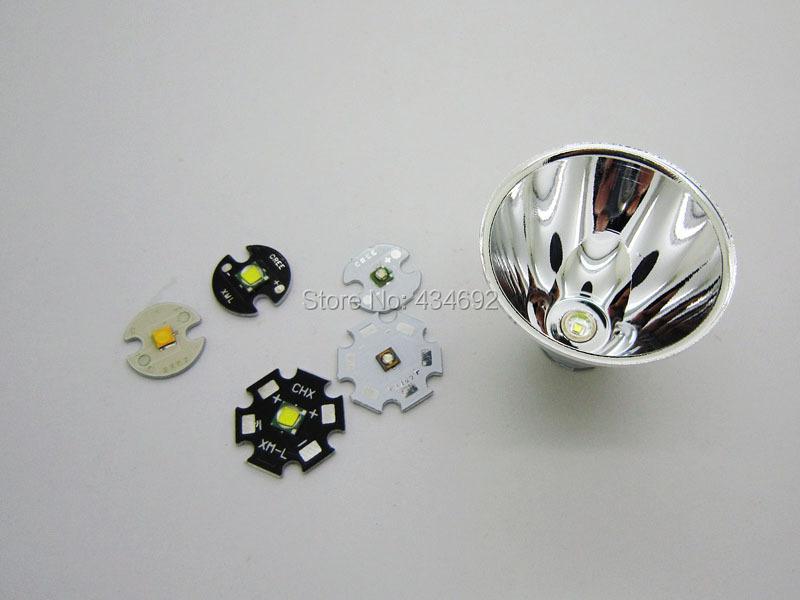 2 Aluminum CREE XRE Q5 / XML XML2 T6 Flashlight Reflector Cup 5-10 Degree Lampshades - Shenzhen Kiwi Lighting Co. , Ltd. store