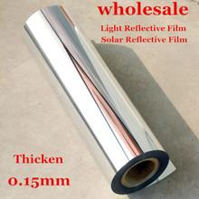 Light Reflective Film Stickers Mirror Waterproof Self Adhesive  uv reflective film / light opaque film(China (Mainland))