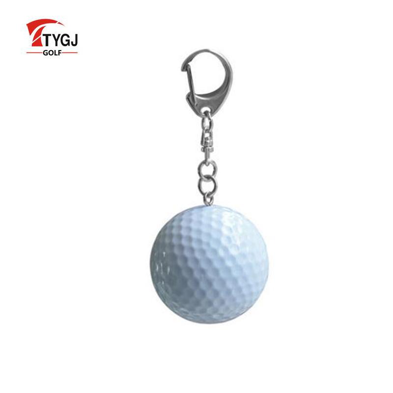 TTYGJ 1pc New Golf Key Buckle Two Layer Driving Range Balls Accessories Chain Small Ornaments Fan Supplies De Golf(China (Mainland))