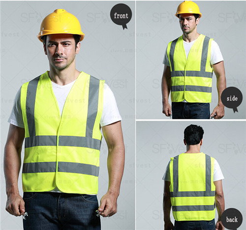 New Material Fashion design clothes yellow Safety Vest with Reflective Strips ansi class 2 safety vest free shipping(China (Mainland))