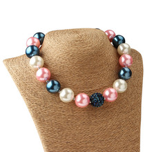 5Pcs Fashion Colorful Chunky Gumball Bead Bubblegum Necklace 37cm Kids Chunky Beaded Necklace Bubblegum Jewelry for