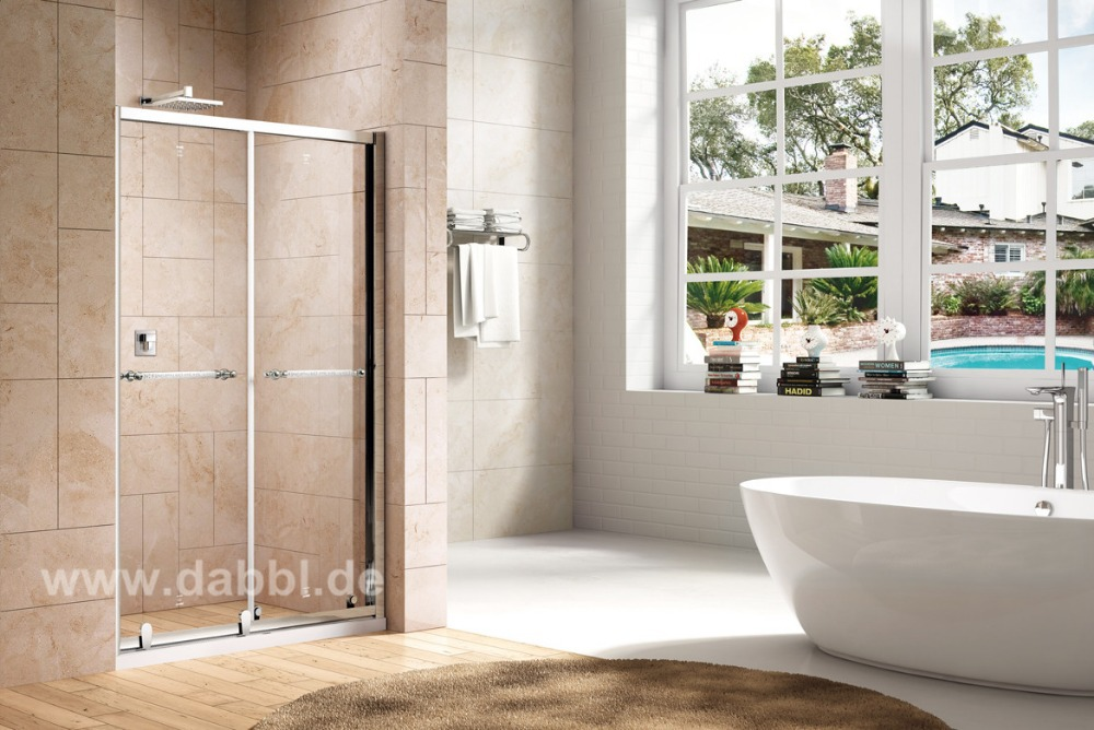 800X1950mm Screen Sliding Glass Shower Doors Shower Enclosure Tempered Glass Shower DY-PN155(China (Mainland))