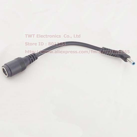 DC Power Adapter Cable , Female 7.4X5.0 To Angle 4.5x3.0mm Male Cord For HP Ultrabook Notebook Laptop,3pcs , Free shipping(China (Mainland))