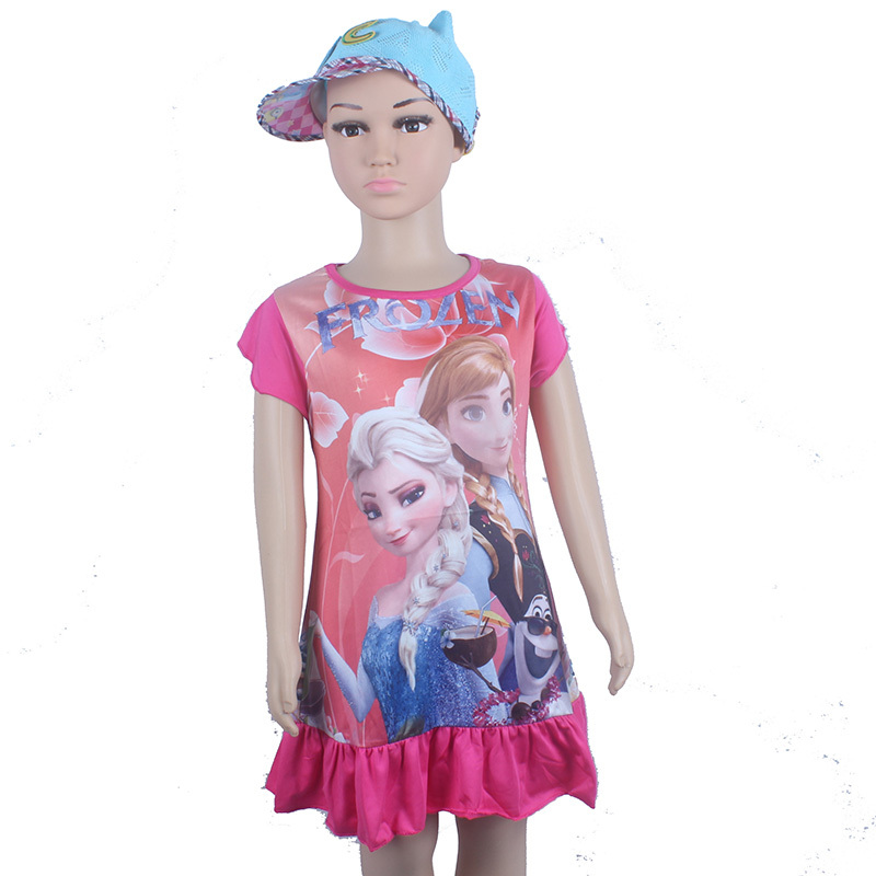2015 Fashion New Anna Dress Girl Princess Dress clothing Summer Style Vestidos Infantis Elsa Girls Dress for Kids Clothes(China (Mainland))
