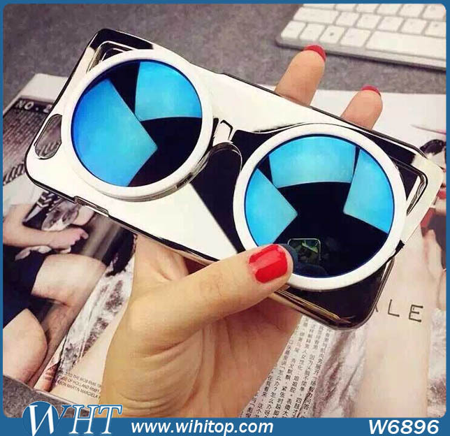 for iPhone 6S Case Sunglass Hard Plastic Chromed Phone Accessories Bling Bling Style with Free Stylus(China (Mainland))