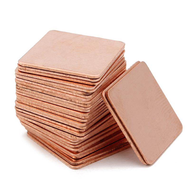 30Pcs 15mmx15mm Heatsink Copper Shim Thermal Pads for Laptop GPU CPU VGA Free Shipping MD047