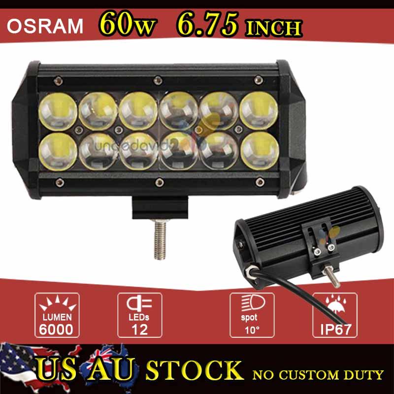 Osram Spot Flood Beam LED Light Bar 60w Offroad For Jeep Ford ATV SUV 4x4 4WD Camper Trailer Truck Vans LED Headlights 12V 24V(China (Mainland))