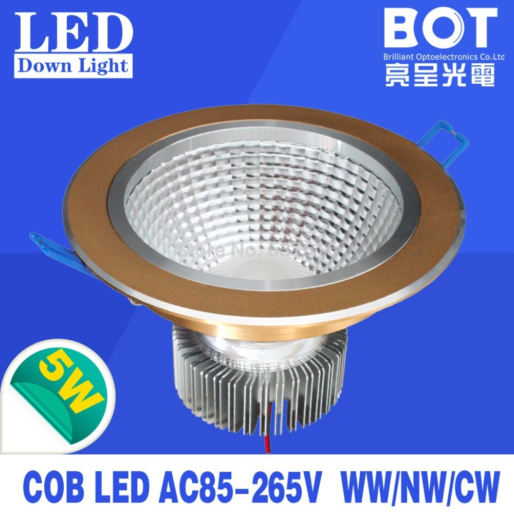 Recessed led down lamp 1*5W cob led nature/warm/cool white color indoor decorative lighting energy saving house/hotel/office(China (Mainland))