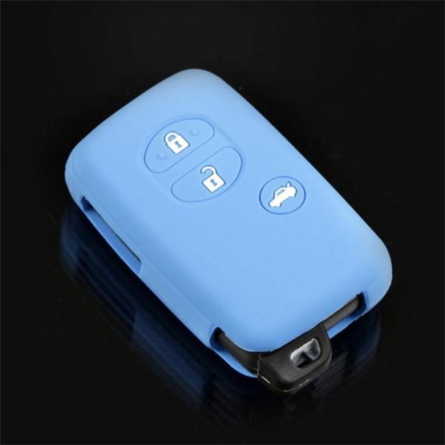 Car Silicone for Toyota Land Cruiser Camry Highlander Crown Prado Prius Car Keychain case flip key set jacket Cover case remote(China (Mainland))