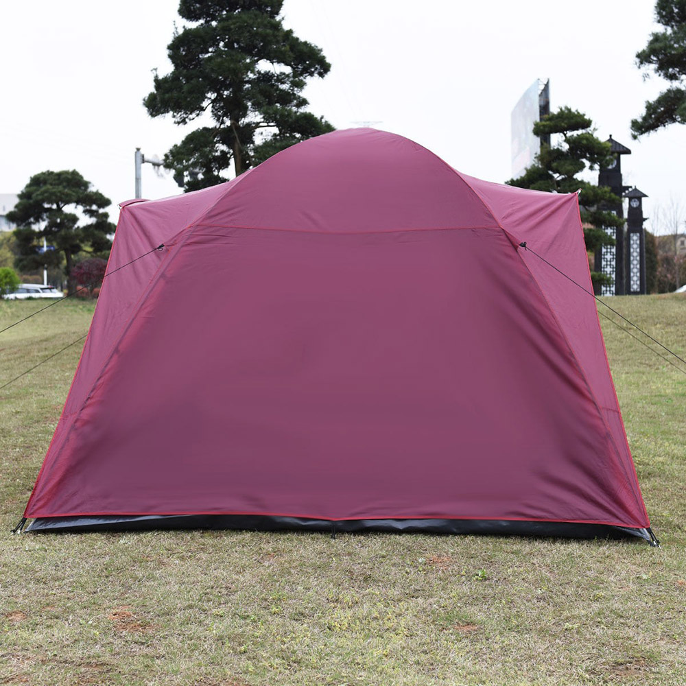 2016 Newest Waterproof Outdoor Tents 5-7 Person Camping Tent Outdoor Travel Hiking Two Layer Backpack Red(China (Mainland))