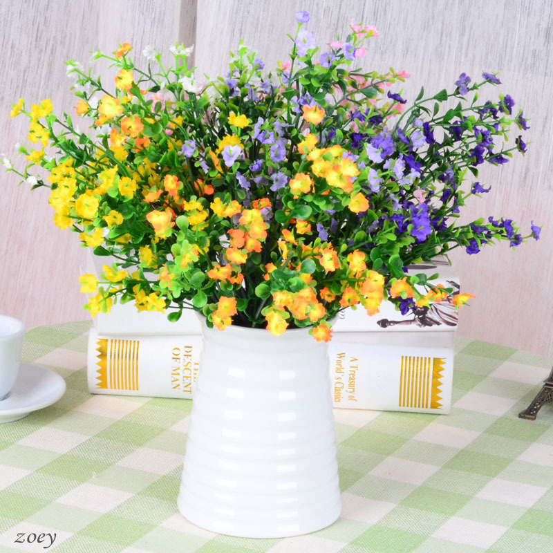 High quality artificial silk lavender flowers for home for Artificial flowers decoration home