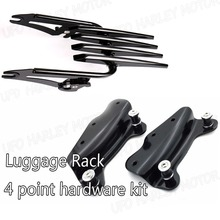 Black 4 Point Docking Hardware Kit With Rack For Harley Street Glide FLHX 09-13(China (Mainland))