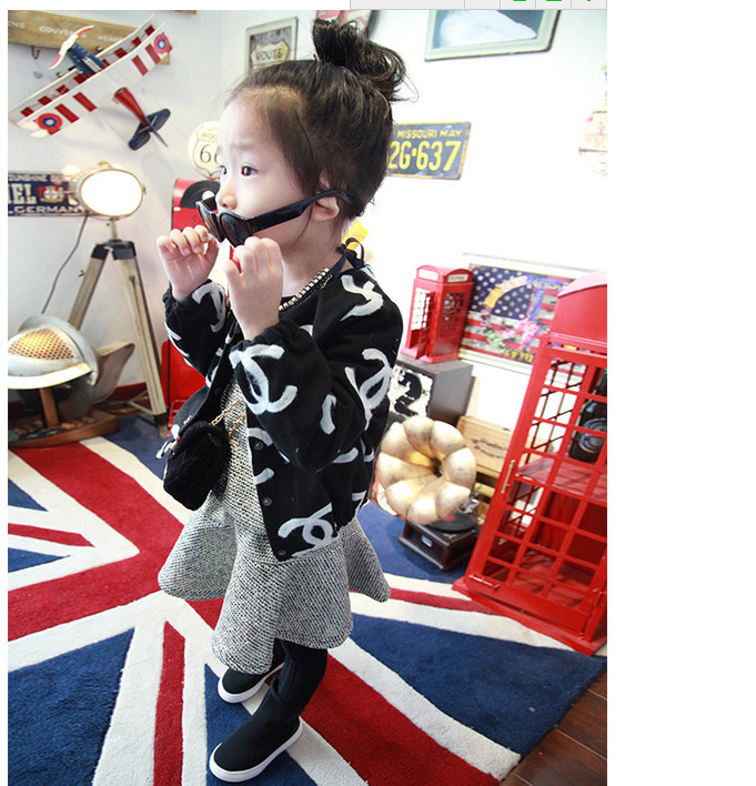 Kids Clothing  2015 New Fashion Spring Girls Jacket Lovely Cardigan Letter Woolen Girls Coat <br><br>Aliexpress
