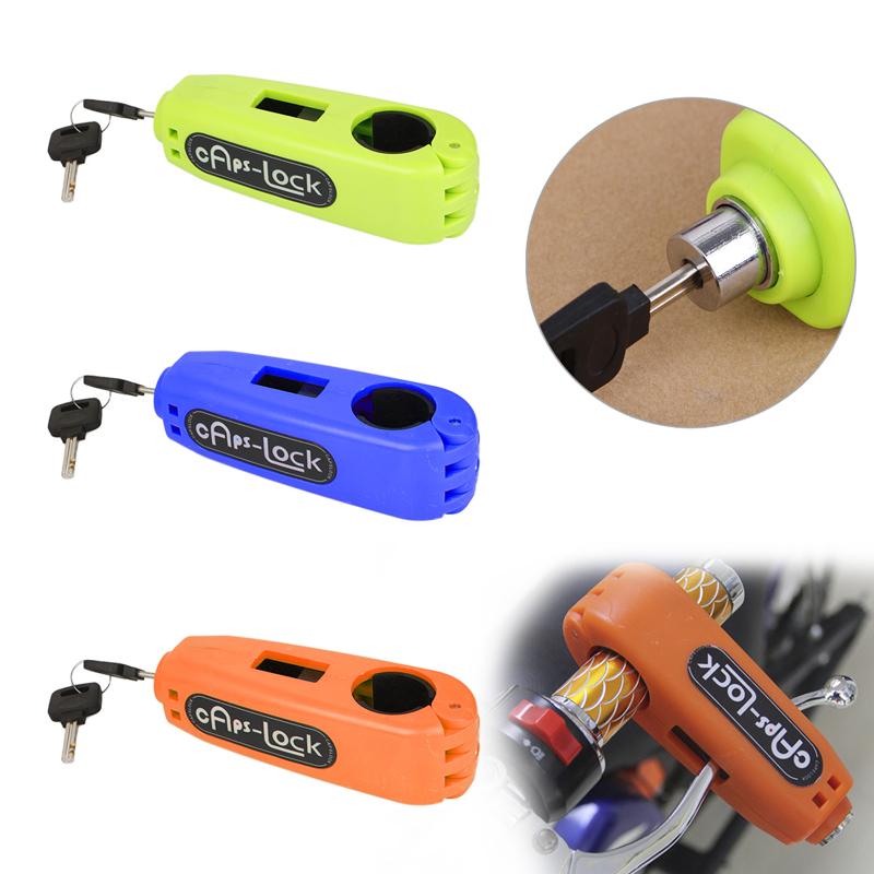 ABS Croc-Lock Motorcycle Scooter Handlebar Therottle Grip Horn Lock Security Handlebar Grip Lock+2 Keys