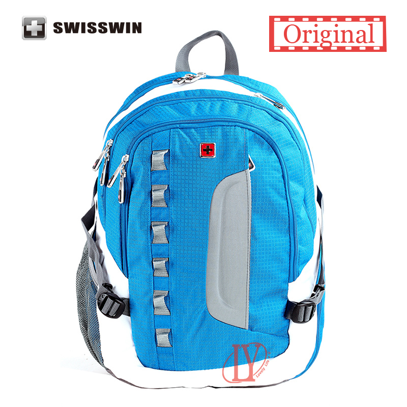 2015 New Fashion Teens Backpack Swisswin Waterproof School Backpack large capacity Men Womem Travel Bag