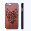 Retro Wolf Real Handmade Wood Case For Iphone 5 5s 6 6s 6 plus Wood Carving