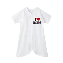 """Baby Romper Funny Letter Print  I Love Mama I love Papa\"""" Romper Newborn Butterfly Romper Climbing Clothes(China (Mainland))"""