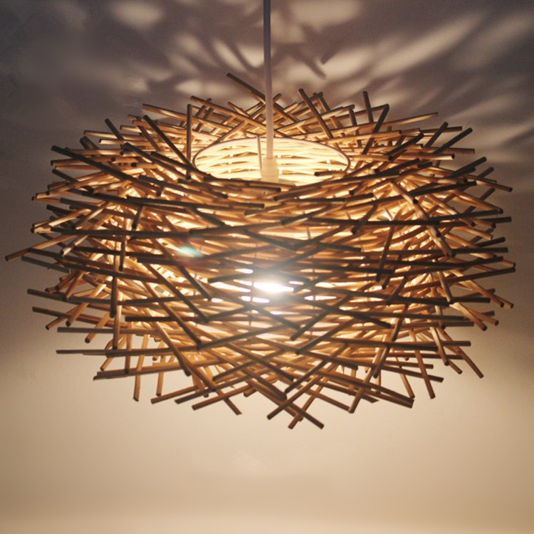 Bird's Nest Chandelier Lights Rattan lamp chandelier lighting Creative personality restaurant lamp Bar lights Factory outlets(China (Mainland))