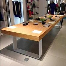 American Country White Iron Wood  Table Dsk Table Dsplay Rctangle Display Table(China (Mainland))