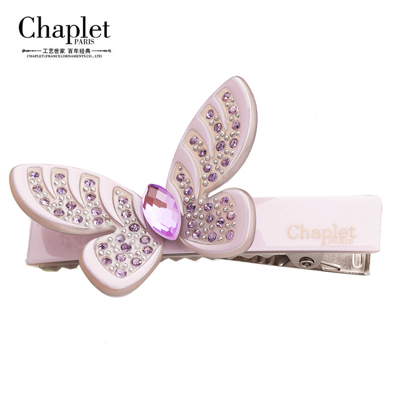Chaplet 2016 High Quality Fashion Women Rhinestone Butterfly Hairpins Alligator Clip Hair Luxury Hair Accessories Free Shipping(China (Mainland))