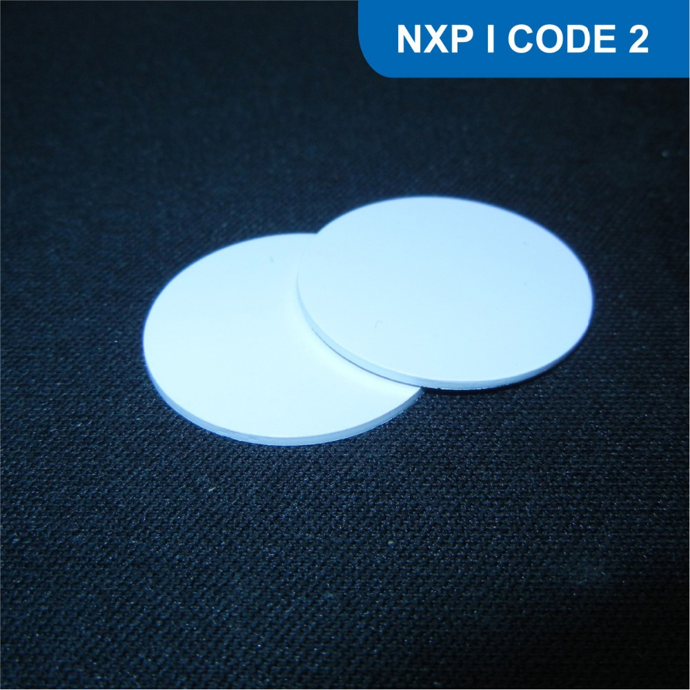 Dia 25mm RFID Tag for access control, RFID PVC Token for asset management, RFID PVC tag with I CODE SLI Chip(China (Mainland))
