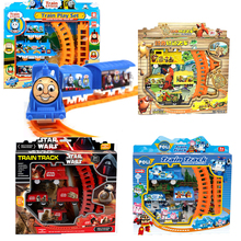 Hot Sale Star Wars Thomas Train Track Electric Railway Rail Elsa Robot Children's Educational Toys Electric With Nice Package #E(China (Mainland))