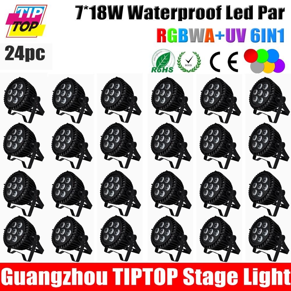 20pcs/lot 7*15W RGBWA+UV 6in1 Waterproof Led Par Light Outdoor New Designed Mini Led Par Light DMX LED PAR Light Without Noise<br><br>Aliexpress