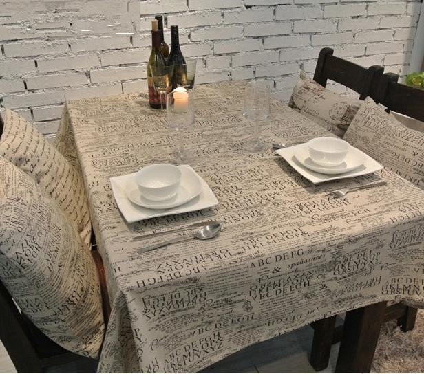Tableclothes Table Cloth Mat Cover Cotton&Hamp Linen Cace Letter Design Freeshipping Wholesale(China (Mainland))