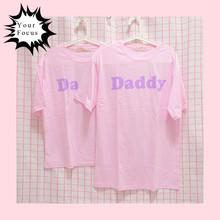 Buy 2017 summer japanese kawaii cute lolita sweet style daddy print pink t shirt cotton loose t shirt dress for $13.99 in AliExpress store