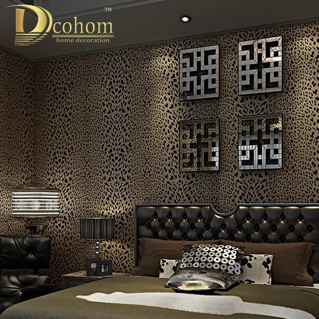 achetez en gros l opard papier peint en ligne des grossistes l opard papier peint chinois. Black Bedroom Furniture Sets. Home Design Ideas