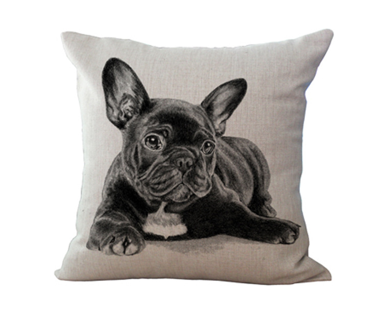 Free Shipping Wholesale 100 New Mianma European Adorable  : Free Shipping Wholesale 100 New Mianma European Adorable French Bulldog Dog Series Cushion Pillow on sofa from www.aliexpress.com size 750 x 635 jpeg 82kB