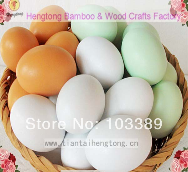 Wooden Maracas Eggs Wood instrument Baby Toddler Toy Educational toy Tricky painted wooden egg Simulation children playhouse toy(China (Mainland))