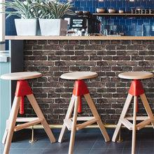 3D бамбуковая имитация наклейки на стену винтажный декор для кафе бар самоклеющиеся настенные панели для коридора, рабочего кабинета бесшов...(China)