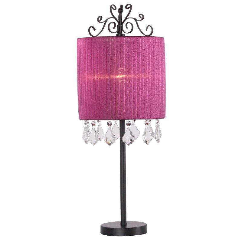 Fashion Purple Table Lamp Wedding Decoration Bedroom Beside Light Living Room Modern Desk Lamp European K9 Crystal Table Lamp(China (Mainland))