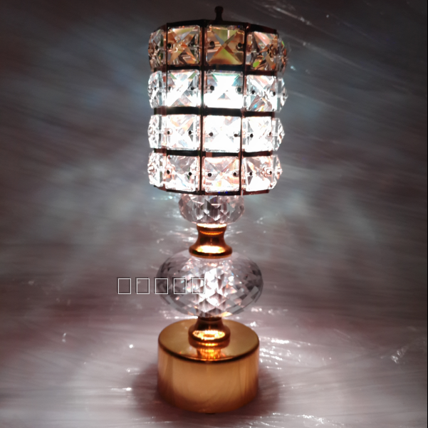 LED rechargeable lamp crystal table lamp nghtlight dimmable crystal desk amps for bar bedside lamp decorative light(China (Mainland))
