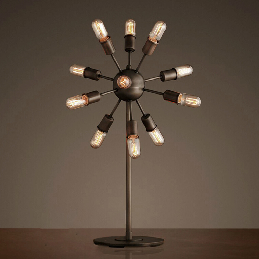 Light Bulb Novelty Lamp : Novelty Dutch Windmill Shaped Antique Nordic Table Lamps 12 Heads Desk Light E27 Edison Bulbs ...